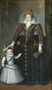 Maria de' Medici and her son Louis XIII (by Charles Martin), 1603, Musée des Beaux-arts, Blois, France